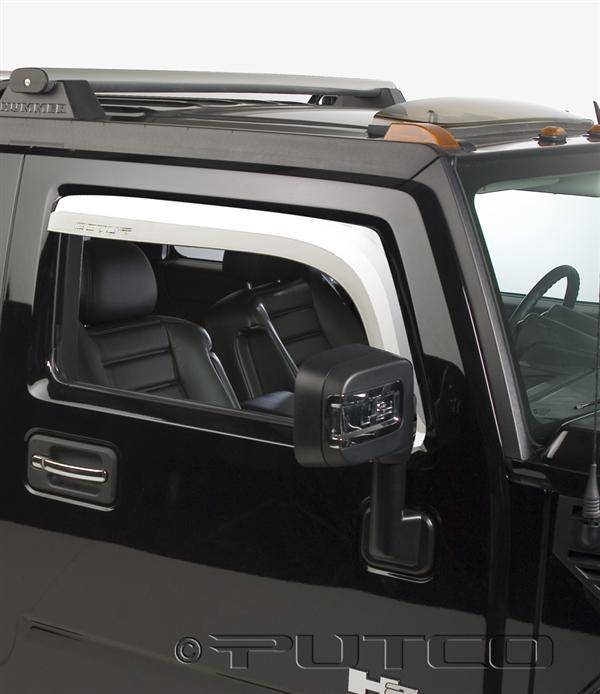 Hummer H2 Putco Element Chrome Window Visors 480501