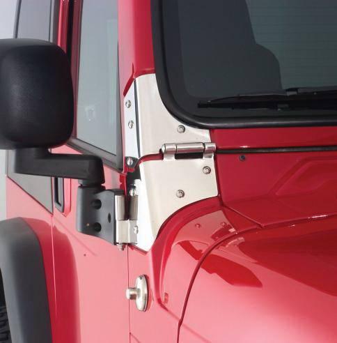 Jeep Wrangler Rampage Windshield Hinges Black 7603