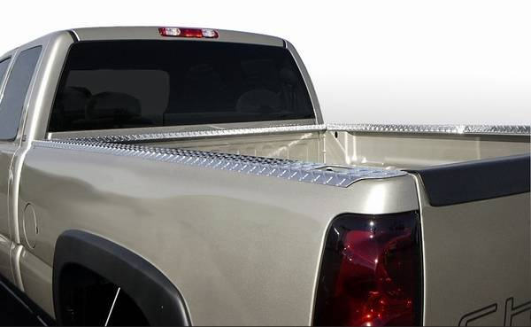 GMC S15 ICI Treadbrite Bed Rail Caps without Holes - BR18TB