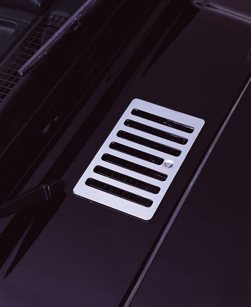 Rugged ridge hood vent cover stainless steel