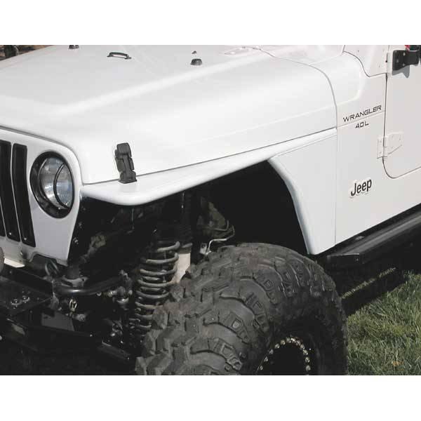 1999 Jeep Wrangler Fenders: Tubular Flat Fender