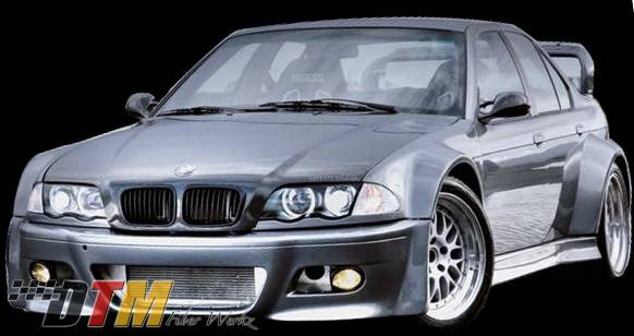 Bmw 3 Series Dtm Fiberwerkz E46 Conversion Gtr Style Wide Body Kit