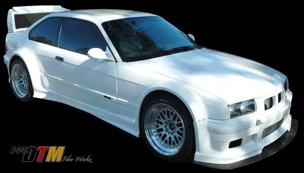 Bmw 3 Series 2dr Dtm Fiberwerkz Gtr Race Style Wide Body Kit E36 Gtr Race
