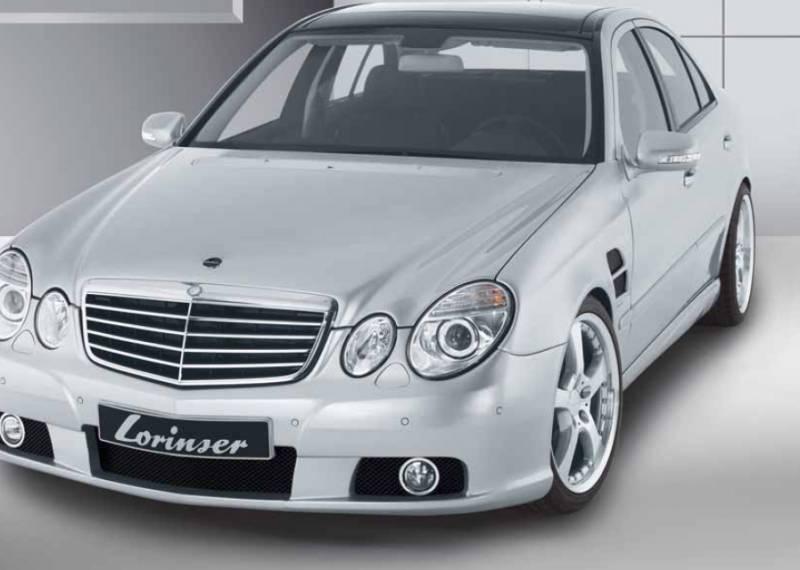 Mercedes benz e class lorinser f01 front bumper spoiler for 1999 mercedes benz e320 front bumper
