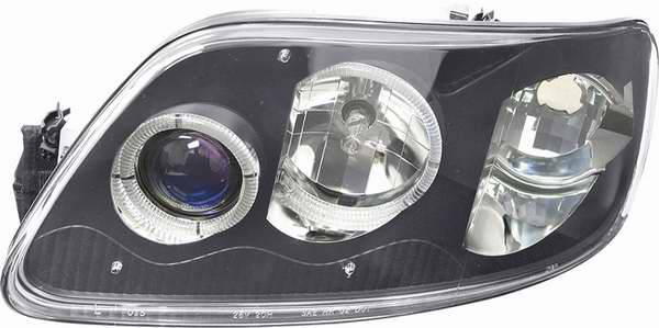 Blue Projector Headlights With Black Housing