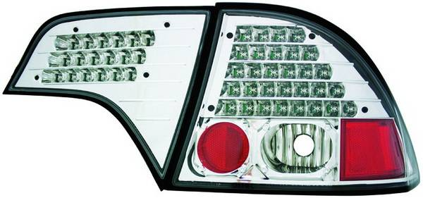 IPCW LEDT-745CS Platinum Smoke LED Tail Lamp without Red Cap 4 Piece Pair
