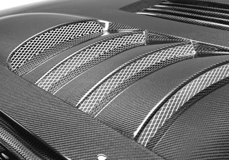 Ford Mustang Seibon SS Style Carbon Fiber Hood - HD0506FDMU-SS