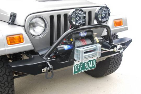 Jeep Wrangler Unlimited Grill >> Jeep Wrangler Hyline Standard Front Bumper Winch Guard & Light Bar Assembly - TJ-YJ-10SWG
