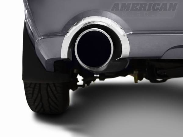 Ford Mustang Polished Rear Valance Exhaust Cutout Trim - 12100