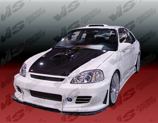 F on 1998 Honda Civic Front Lip Bumpers