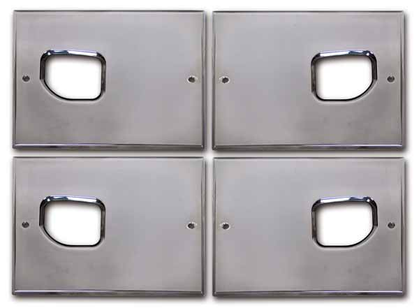 Pro one smooth chrome billet interior door handle backing plate pro one pro one smooth chrome billet interior door handle backing plate set planetlyrics Choice Image