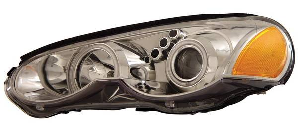 Anzo Chrysler Sebring 2dr Projector Headlights With Halo Chrome Clear 121194