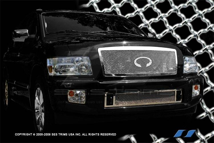 Infiniti Qx56 Ses Trim Chrome Plated Stainless Steel Mesh Grille