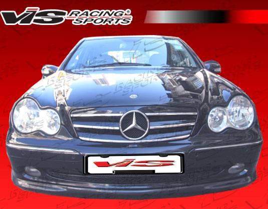 Mercedes benz c class vis racing euro tech 2 front lip for Mercedes benz technician