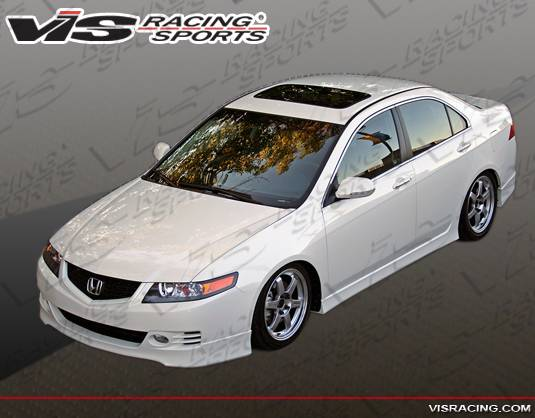 Acura TSX VIS Racing Euro R Front Lip ACTSXDEUR - 2018 acura tsx front lip