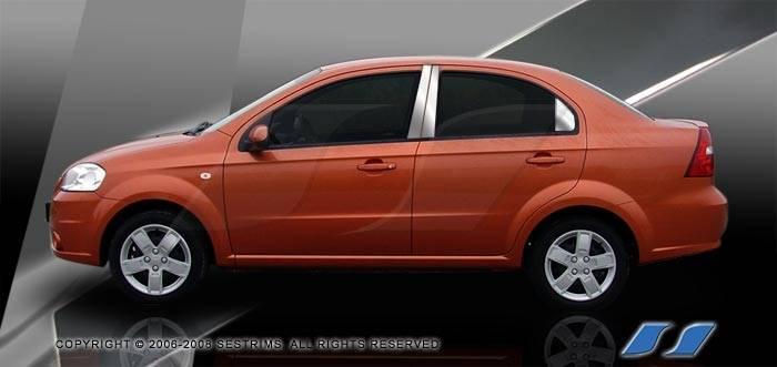 Chevrolet Aveo Ses Trim Pillar Post 304 Mirror Shine Stainless