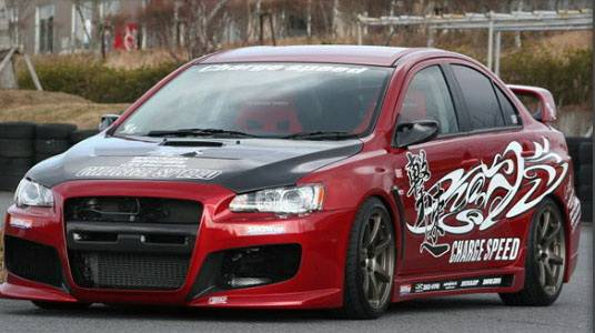 lancer body kits chargespeed mitsubishi lancer chargespeed type 1 full body kit