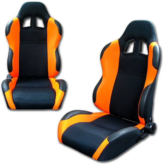 Car Seat Installation >> Sport Racing Seats Red Yellow Orange Grey