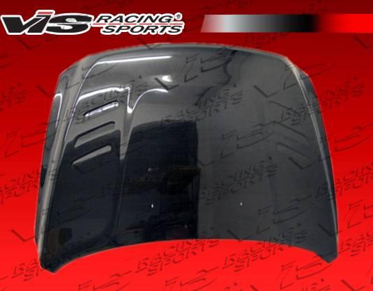 dodge ram vis racing oem black carbon fiber hood. Black Bedroom Furniture Sets. Home Design Ideas