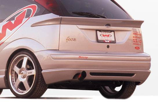 Ford Focus Zx3 Vis Racing W Type Rear Lip Polyurethane