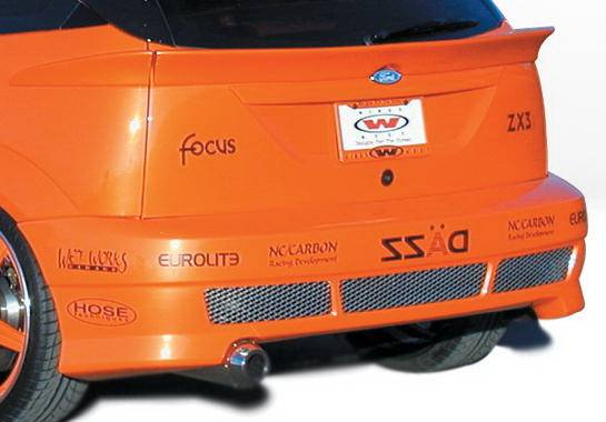 ford focus zx3 wings west avenger rear bumper cover 890551. Black Bedroom Furniture Sets. Home Design Ideas