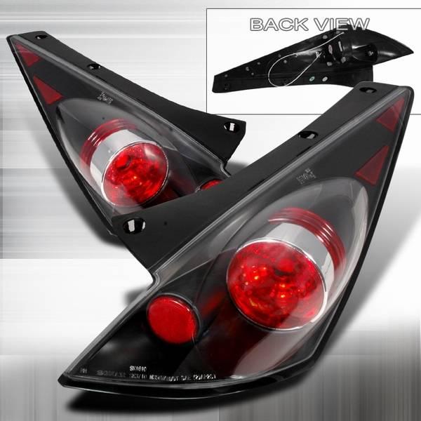Nissan 350Z Custom Disco JDM Black Altezza Taillights - LT