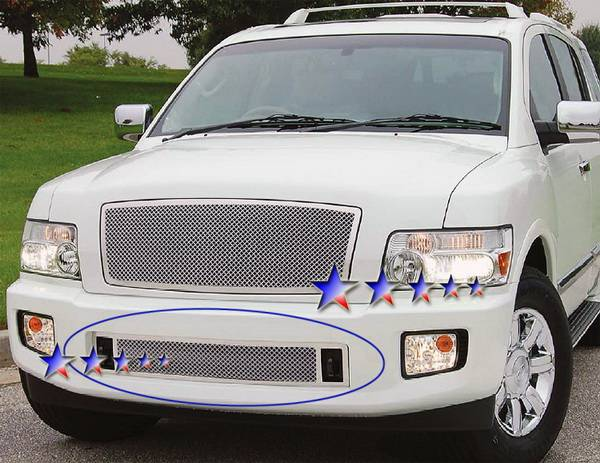 Infiniti Qx56 Aps Wire Mesh Grille Bumper Stainless Steel N75448t