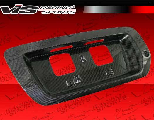 honda civic 2dr vis racing oem style carbon fiber license plate cover 06hdcvc2doe lic. Black Bedroom Furniture Sets. Home Design Ideas