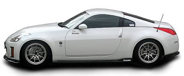 nissan 350z chargespeed bottom line side skirts
