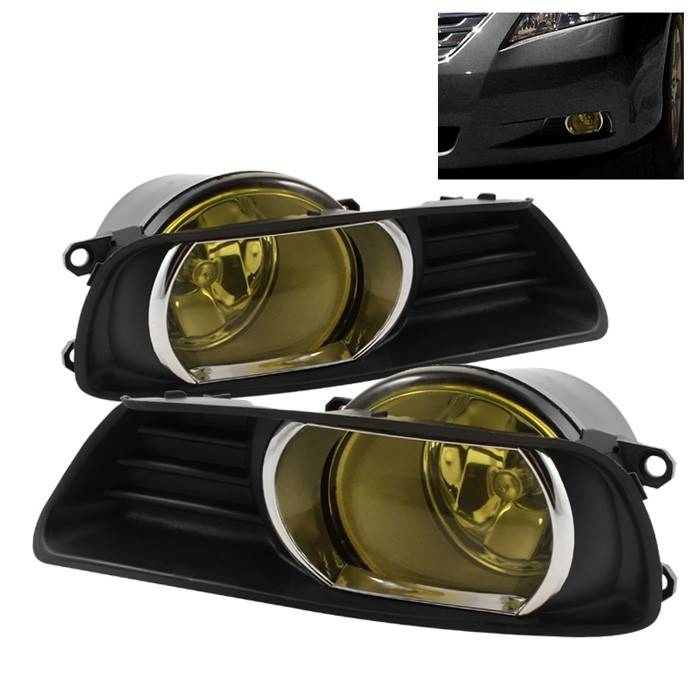 toyota camry spyder oem fog lights yellow fl tcam07 y. Black Bedroom Furniture Sets. Home Design Ideas