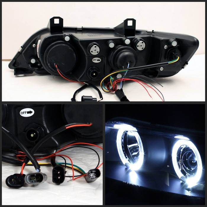 BMW Aftermarket Parts >> BMW Z3 Spyder Projector Headlights - LED Halo - Black ...