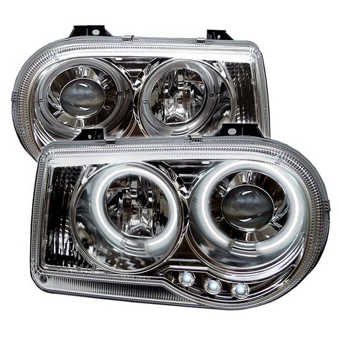 chrysler 300 spyder projector headlights ccfl halo led. Black Bedroom Furniture Sets. Home Design Ideas