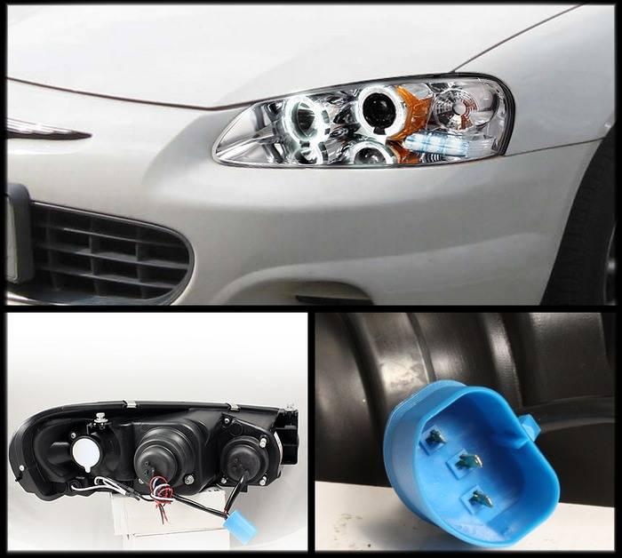 Chrysler Sebring Spyder Projector Headlights Led Halo