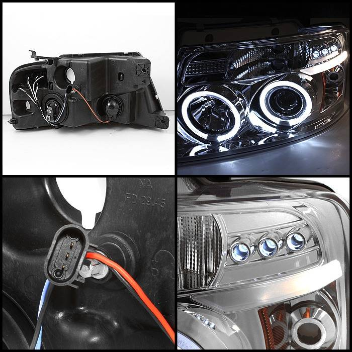 Ford F150 Spyder Projector Headlights - Version 2 - LED Halo