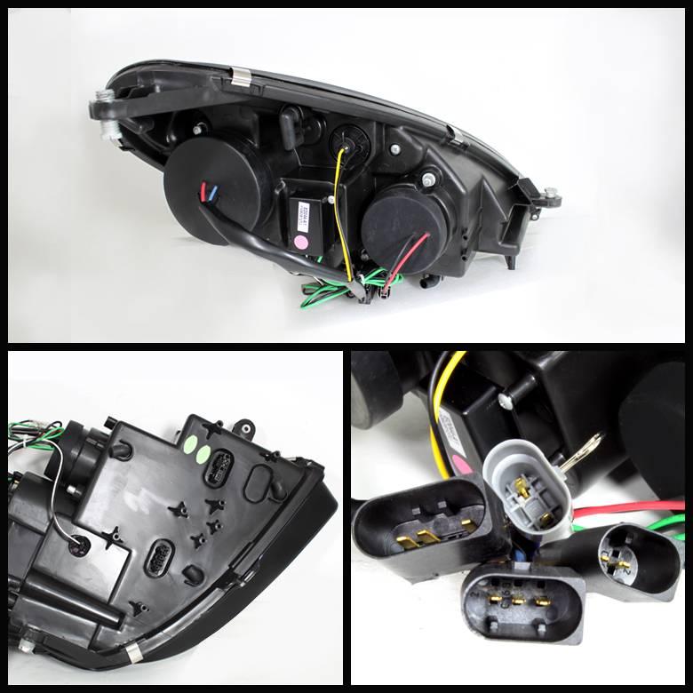 Mercedes benz slk spyder projector headlights xenon hid for Mercedes benz xenon headlights