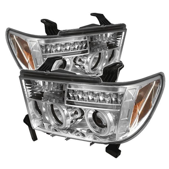 Toyota Tundra Spyder Projector Headlights - CCFL Halo - LED