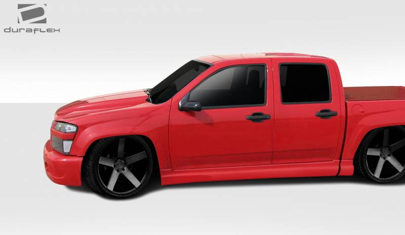 Chevy Colorado Crew Cab >> GMC Canyon Duraflex BT-1 Side Skirt Rocker Panels - 4 Piece - 112336