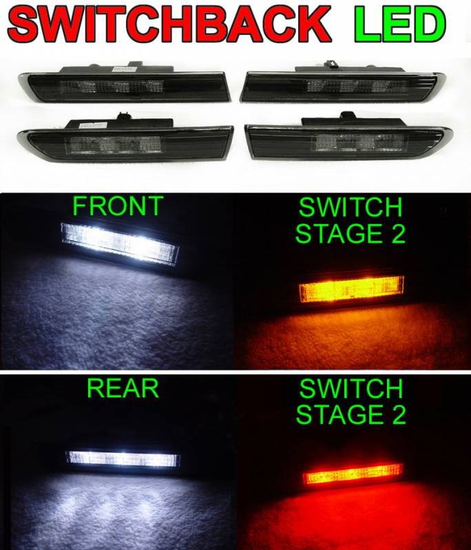 Acura TL Smoke Front/Rear DEPO Side Marker Lights-Switch