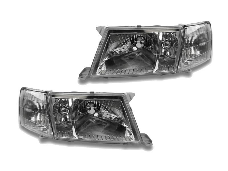 Lexus LS400 Crystal Clear DEPO Headlight + Corner 4 PiecES Set