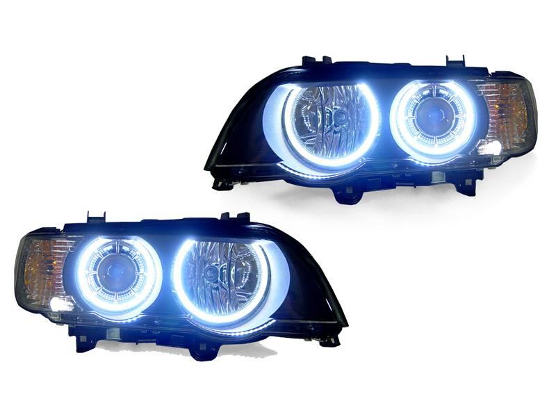 BMW E53 P53 Black Angel Projector DEPO Headlight - Hi/Low D2S + Led