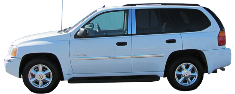 """for 2002-2006 Gmc Envoy Body Side Molding 1.75/"""" Wide 6pc"""