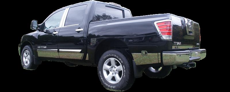 For 2004-2015 Nissan Titan Crew Polished 4pcs Door Pillar Post Trim STAINLESS
