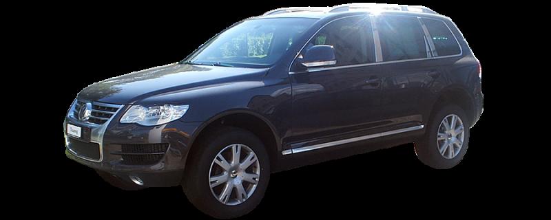 2004-2010 Volkswagen Touareg 6Pc Chrome Pillar Post Stainless Steel Trim Door