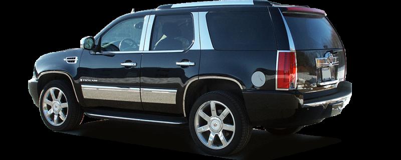 Upgrade Your Auto Chrome Pillar Post Covers for 2007-2014 Cadillac Escalade 4 Pieces