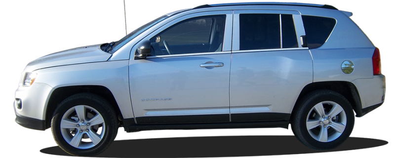 Stainless steel Body door Side Molding Trim Chrome For Jeep Compass 2007-2016