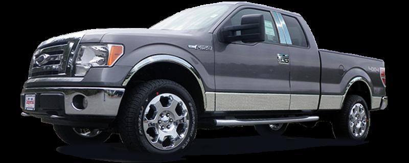 1.5 Width MI49317 QAA fits 2009-2014 Ford F-150 12 Piece Stainless Body Molding Insert Trim Kit