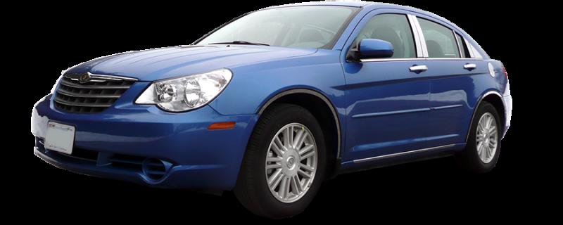 PP47780 QAA FITS Sebring 2007-2010 Chrysler 4 Pc: Stainless Steel Pillar Post Trim Kit, 4-Door