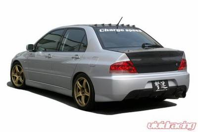 Chargespeed - Mitsubishi Lancer Chargespeed Rear Bumper with OEM JDM Evo IX Rear Bumper Style with Center Diffuser