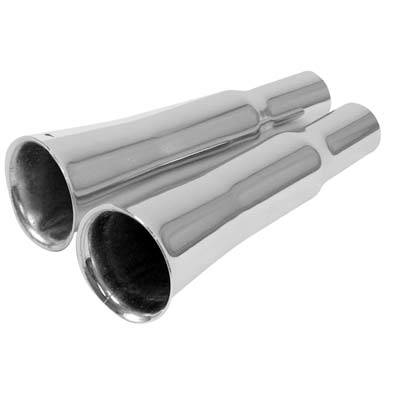 Custom - VW Beetle Exhaust Tips (Pair) Flared