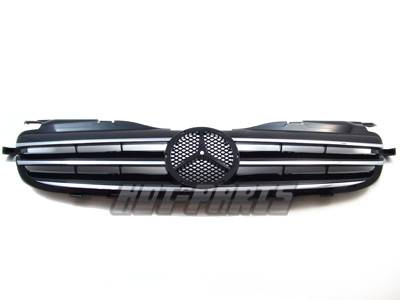 Custom - R170 SLK Chrome Black Grille 98-04 G2
